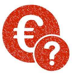 Euro status grunge icon vector