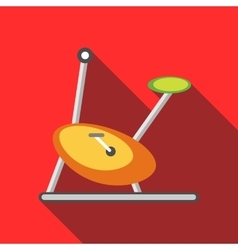 Exercise bicycle icon flat style vector