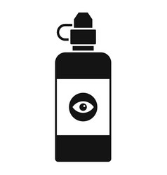 Eye clean lotion icon simple style vector
