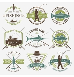 Fishing Clubs Colorful Emblems vector image