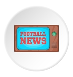 Football news on TV icon cartoon style vector image