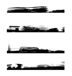 Four black frames line vector