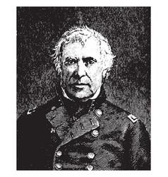 General taylor vintage vector