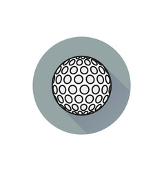 Golf ball icon on white background vector