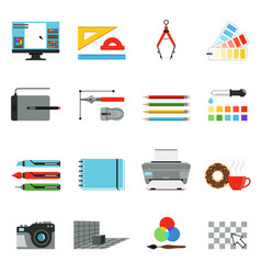 graphic and computer design different tools for vector image