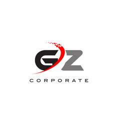 gz modern letter logo design with swoosh vector image