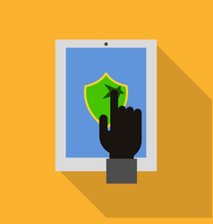 hacked device security icon flat style vector image