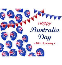 happy australia day 26 january helium balloons vector image