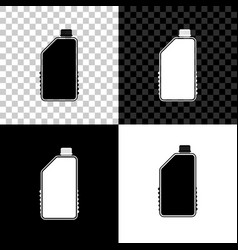household chemicals blank plastic bottle icon on vector image