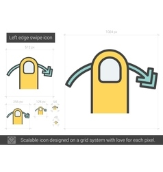 Left edge swipe line icon vector image