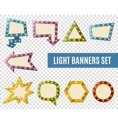 Light Banners Transparent Set vector image