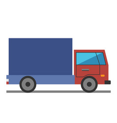 lorry flat style vector image vector image