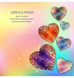 Love symbol Light mesh abstract background with vector image