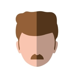 Man mustache male avatar person people icon vector