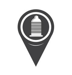 map pointer condom icon vector image