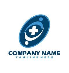 medical logo cross logo medical center logo vector image