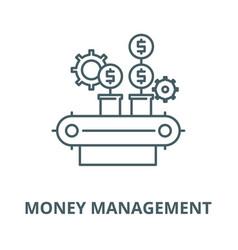 money management line icon linear concept vector image
