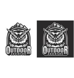 Monochrome wildlife label vector