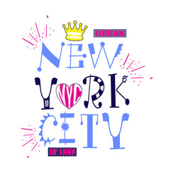 New york city style typography t-shirt graphics vector
