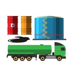 Oil extraction truck vector