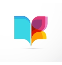 Open book - colorful concept icon of education vector