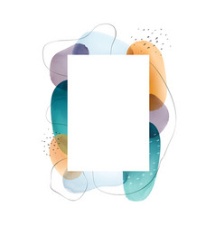 Photoframe frame design with watercolor background vector