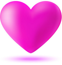 pink 3d valentine heart vector image