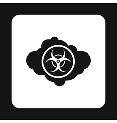 Radioactive cloud icon simple style vector