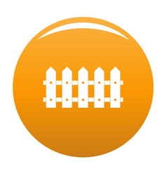 Rare fence icon orange vector