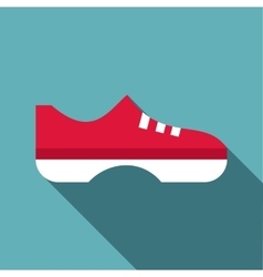 Red boot icon flat style vector