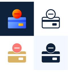 Remove credit card stock icon set bank account vector