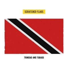 scratched flag of Trinidad and Tobago vector image