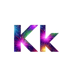 Set of letters firework K vector