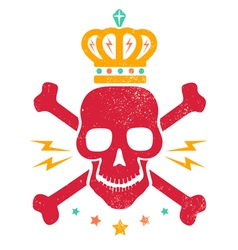 Skull blood red vector
