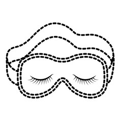 sleep mask black color section silhouette on white vector image