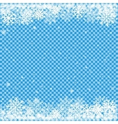 snow on blue transparent background vector image