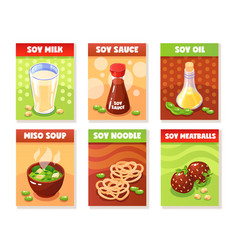 soy product banners vector image