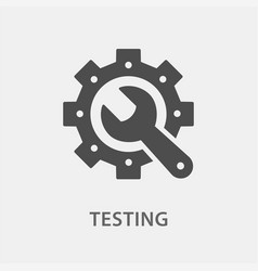 Testing icon for graphic and vector