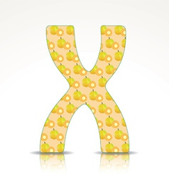 The letter x alphabet made ximenia vector
