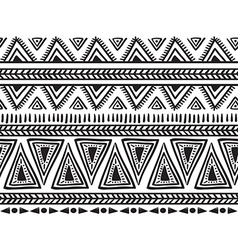 Tribal striped seamless pattern Geometric vector