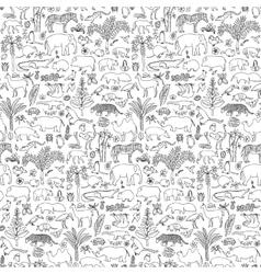 Tropic Animals Seamless Pattern vector