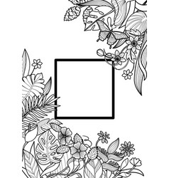 Tropical frame mock up vector