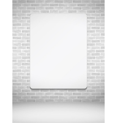 Vertical Poster on Brick Wall vector image