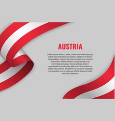 waving ribbon with flag vector image