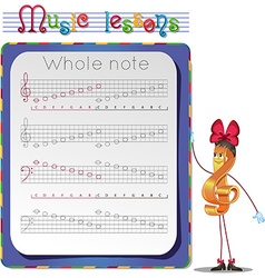 Whole note vector