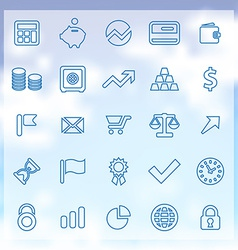 25 finance icons set vector image