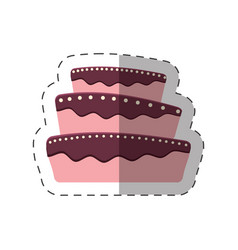 Cake dessert baked shadow vector