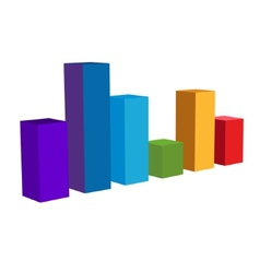 Chart Color Diagram Icon vector image