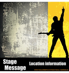 guitarist background vector image vector image