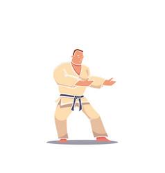 hand drawn character man in kimono vector image vector image